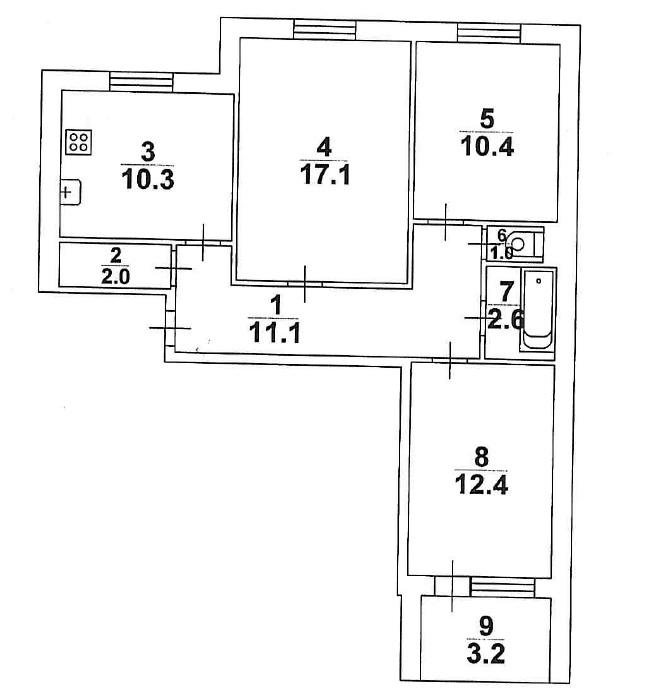 Квартира на продажу по адресу Россия, Саратовская обл, Саратовский р-н, поселок Дубки, Волжская улица, 1А