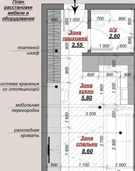 Продажа 1-к квартиры Зои Космодемьянской улица, д.5