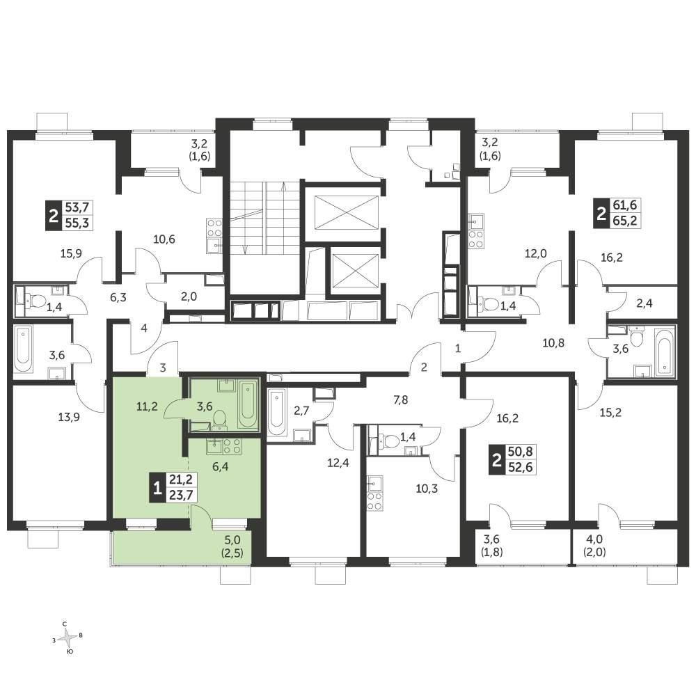 Продажа 1-комнатной новостройки, Люберцы, Проектируемый проезд,  д.4037