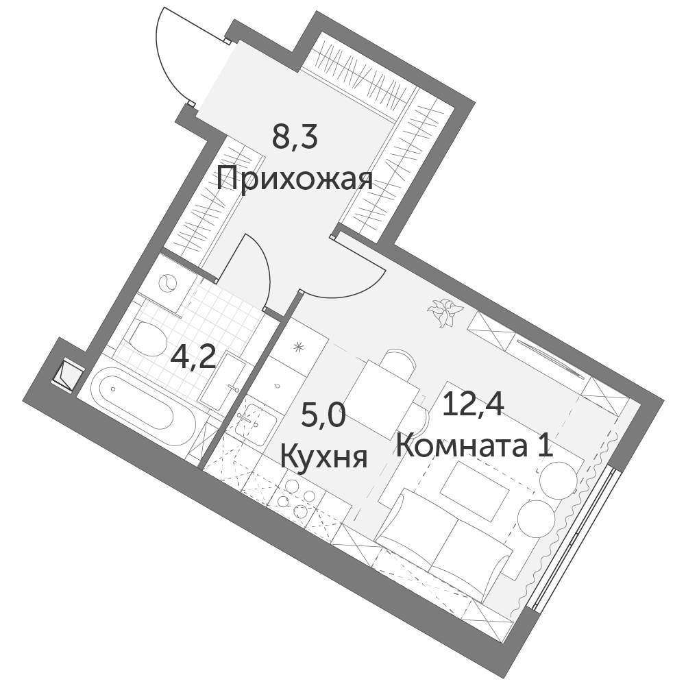 Продажа 1-комнатной новостройки, Москва, Академика Волгина улица,  влд2