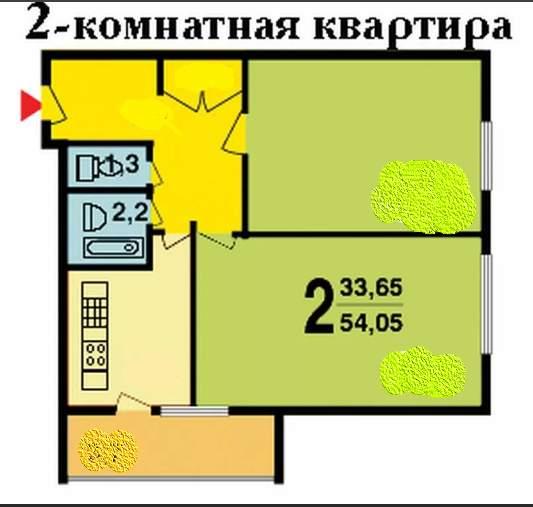 2-комнатная квартира, Москва, Федеративный проспект, д.21к2