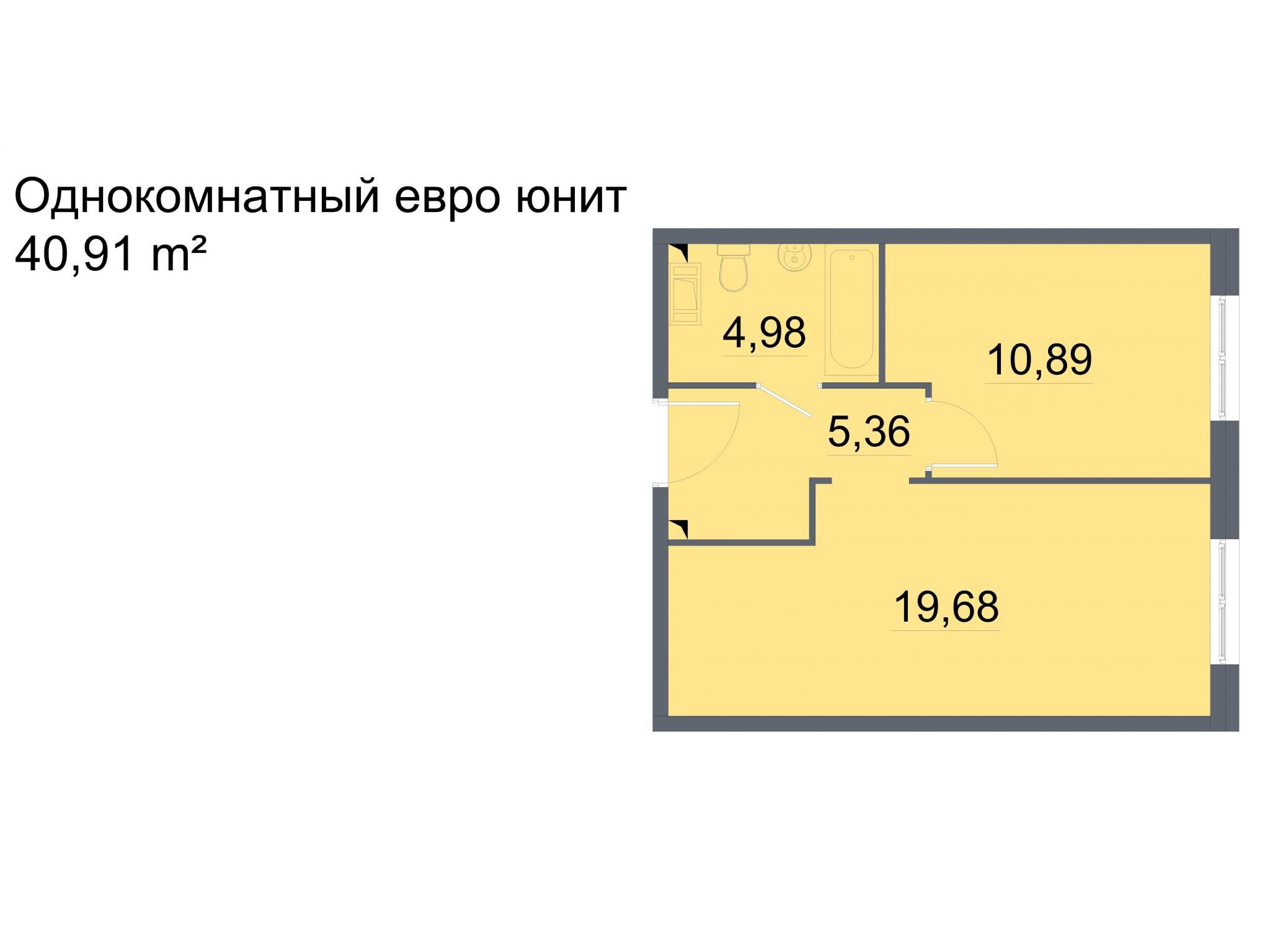 Продажа 1-комнатной новостройки, Санкт-Петербург, Большевиков проспект,  д.32к4