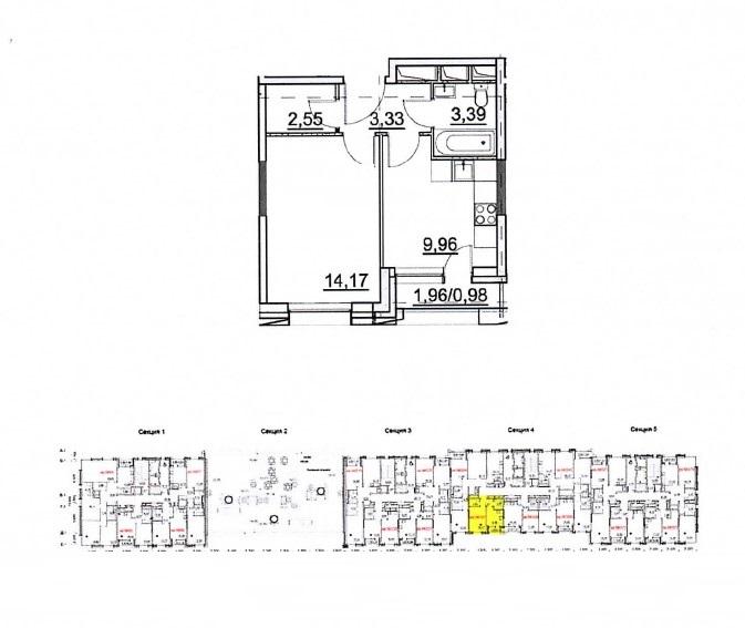 Продажа 1-комнатной новостройки, Москва, Лётная,  д.95Б