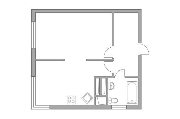 Продажа 1-комнатной новостройки, Долгопрудный, Парковая улица,  д.54