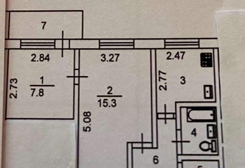 Продажа 2-комнатной квартиры, Тюмень, 50 лет Октября улица,  д.68
