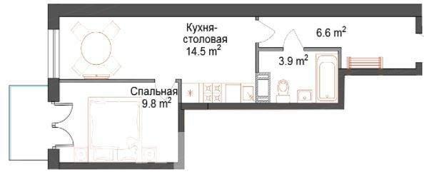 Продажа 1-комнатной новостройки, Санкт-Петербург, Днепропетровская улица,  д.7 литер А